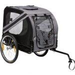 1. Flamingo Doggy Liner Economy - Hondenfietskar - Grijs/Zwart