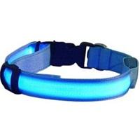 ABC-Led Reflecterende Halsband - Blauw - M - 40 cm